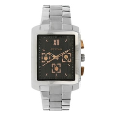 Titan Black Dial Analog Watch For Men-1679SM02