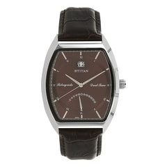 Titan Brown Dial Analog Watch For Men-1680SL04