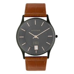 Titan Edge Brown Dial Watch with Date function for Men