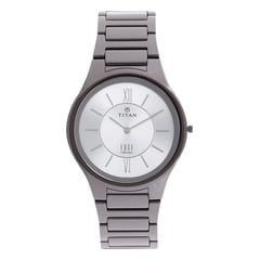 Titan Edge Ceramic Silver Dial Watch for Men