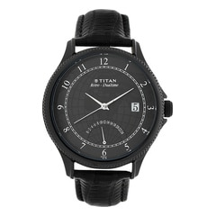 Titan Globe Trotter Black Dial Analog Dual Time Watch for Men