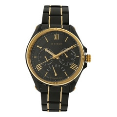 Titan Black Dial Multifunction Watch for Men