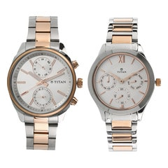 White Dial Metal Strap Watches