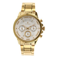 Titan Regalia Sovereign White Dial Chronograph Watch for Men