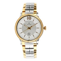 Titan Regalia Sovereign Champagne Dial Analog Watch for Men