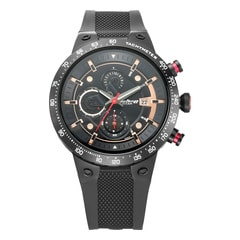 Titan Octane Signature Black Chronograph Watch for Men with Tachymeter