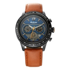 Titan Octane Signature Blue Chronograph Watch for Men with Tachymeter