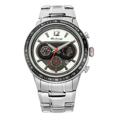 Titan Octane Signature Silver White Chronograph Watch for Men with Tachymeter