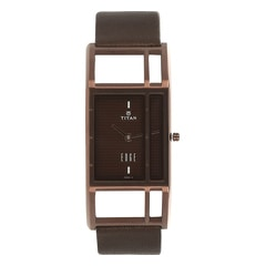 Titan Brown Dial Analog Watch for Women-2549QL01