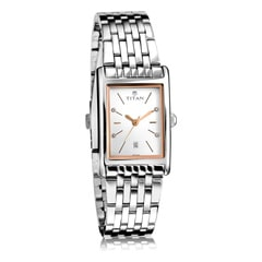 Titan Neo White Dial Analog Watch for Women