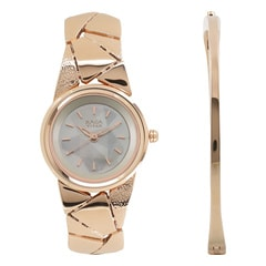 Mother of Pearl Dial Metal Strap Watch for Women