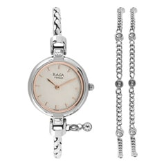 Silver Dial Metal Strap Watch for Women