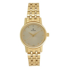Titan Light Champagne dial Analog Watch for Women