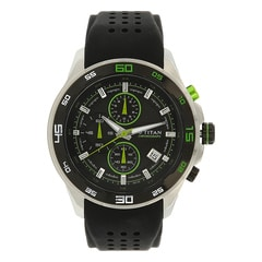 Titan Silicone Strap Watch for Men