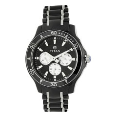 Titan Black Dial Analog With Day Watch for Men - 90020KD01J