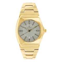 Titan White Dial Analog Watch For Men-90021YM02J