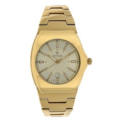 Titan Champagne Dial Analog Watch For Men-90021YM03J