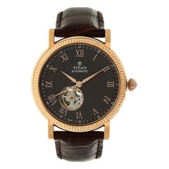 Titan Brown Dial Analog Watch For Men-90032WL01J