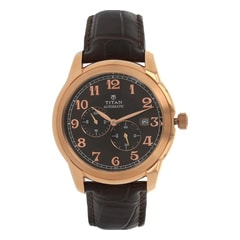 Titan Brown Dial Analog Watch For Men-90033WL01J