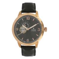 Titan Black Dial Analog Watch For Men-90036WL02J