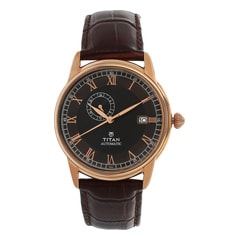 Titan Brown Dial Analog Watch For Men-90037WL02J