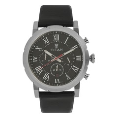 Titan Black Dial Analog Watch For Men-90050SL02J