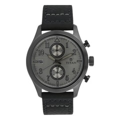 Titan Grey Dial Analog Watch For Men-90052QL01J