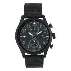 Titan Green Dial Analog Watch For Men-90052QL02J