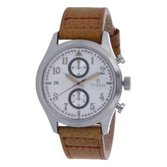 Titan Silver Dial Analog Watch For Men-90052SL01J