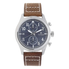 Titan Blue Dial Analog Watch For Men-90052SL02J