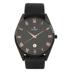 Titan Slim Workwear Black Dial Analog Watch for Men-90054NL01J