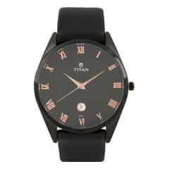 Titan Slim Workwear Black Dial Analog Watch for Men-90054NL01J