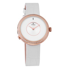 Titan WE Silver Dial Smartwatch for Women