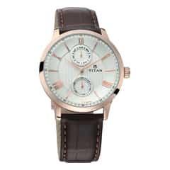 Titan Classique 2018 men leather watch - 90100WL01