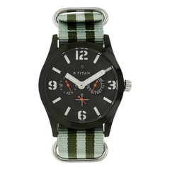 Titan Purple Multifunction Watch For Men-9473AP04J