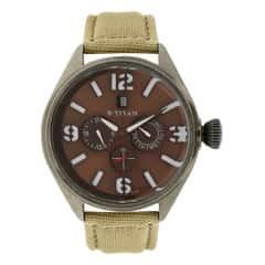 Titan Analog Brown Dial Watch For Men-9478QF02J