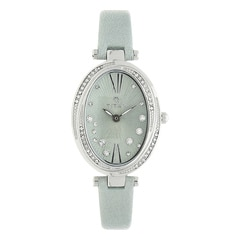 Titan Purple Green Dial with Leather Strap Analog Watch for Women-95025SL03J