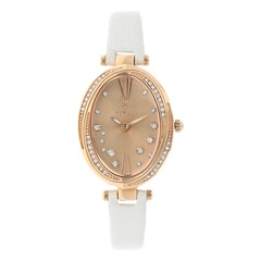 Titan Purple Rose Gold Dial with Leather Strap Analog Watch for Women-95025WL01J