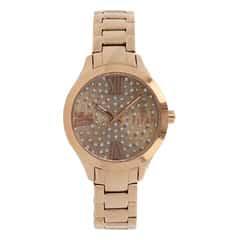 Titan Purple Rose Gold Studded Dial Analog Watch for Women-95027WM01J