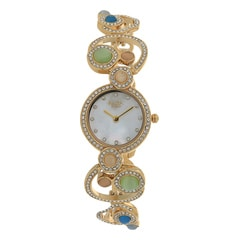 Titan Raga Moonlight Studded Bezel with Multi Stone Analog Watch for Women-95031YM03J
