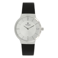 Titan Workwear Silver Dial Analog Watch for Women-95033SL01J