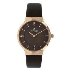 Titan Workwear Brown Dial Analog Watch for Women-95033WL01J