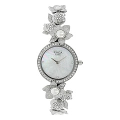 Titan Raga Aurora MOP White Dial Analog Watch for Women