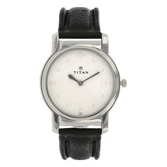 Titan Braille Silver Dial Analog Watch for Men