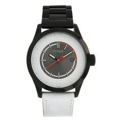 Titan Black Dial Analog Watch For Men-NB9412NH01