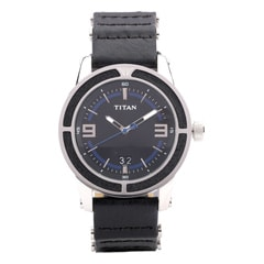 Titan Purple Black Dial Watch For Men-NB9413SH01