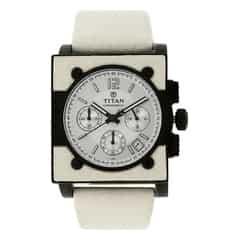 Titan Silver Dial Analog Watch For Men-NB9414NL01