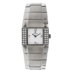 Titan White Dial Analog Watch For Women-NC9887TM01