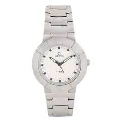 Titan White Dial Analog Watch For Women-NC9918SM01