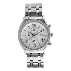 Titan Steel White Dial Chronograph Watch for Men